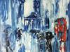 Rain, St  Martins, Trafalgar Square