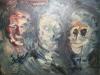Three Old Maids TV Heads