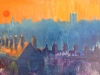Atmospheric Wigan Skyline From Woodyard